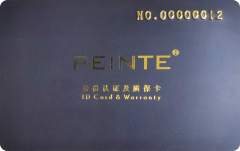 Peinte Warranty Card Custom Plastics Cards Printing