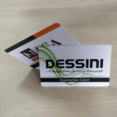 Dessini Guarantee Card Custom Printed Plastic Cards Printing