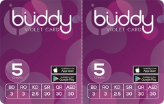 Buddy Violet 2 in 1 Multi-Pin Calling Card Scratch Card Printing Company