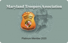 Maryland Troopers Association Membership Card Printing Custom PVC Cards