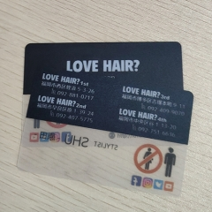 Love Hair PVC Transparent Card Printing Custom PVC Card Printing