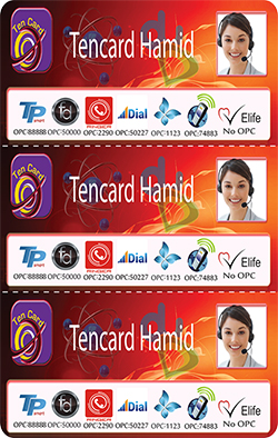 Tencard Hamid 3 in 1 Multi-Pin Custom Scratch Cards Printing