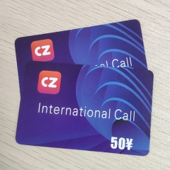 Paper CZ International Calling Card Scratch Card Printing Company