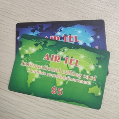 Top Line Paper International Calling Card Scratch Card Printing