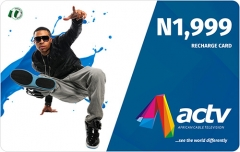 ACTV Recharge Prepaid Card Scratch off Printing