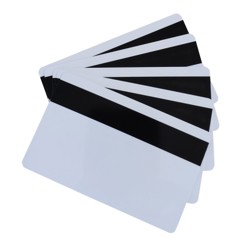 PVC magentic stripe blank white card