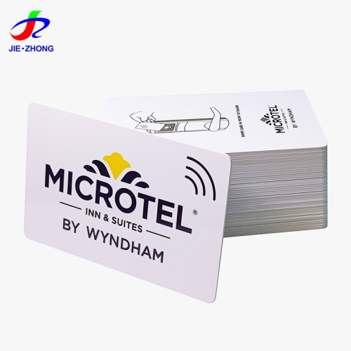 Customized m1 uhf 13.56mhz rfid ic chip smart card pvc hotel access control card