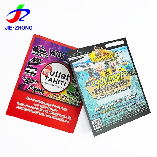 Hot sale Custom Design CMYK Printing lotto scratch off and win card paper lottery ticket