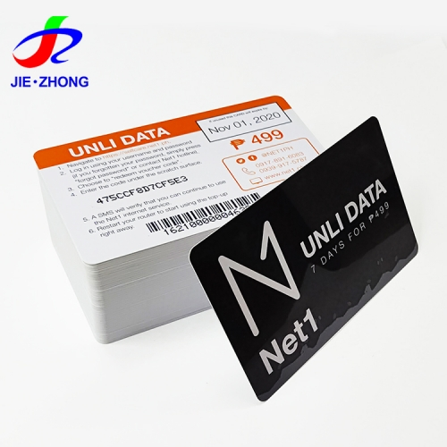 Customized printed pvc plastic barcode loyalty shopping member vip card