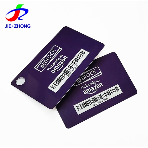 Custom printing gloss cr80 pvc card plastic punch/perforateur shape loyalty barcode card