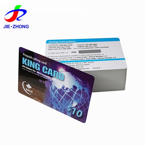 Custom printing plastic pin code recharge/top up card the pvc scratch-offs card with scrath