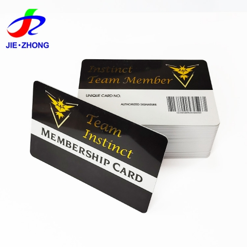 Customized printed plastic personaluzed scannable points pvc membership vip card with barcode