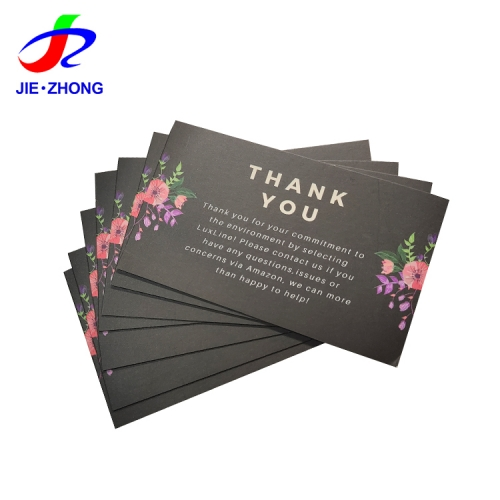 Customized design printble own nice paper card with logo and thanks you cards for business