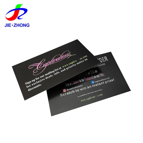 Manufacturer custom printing paper black personalized gift business thank you card