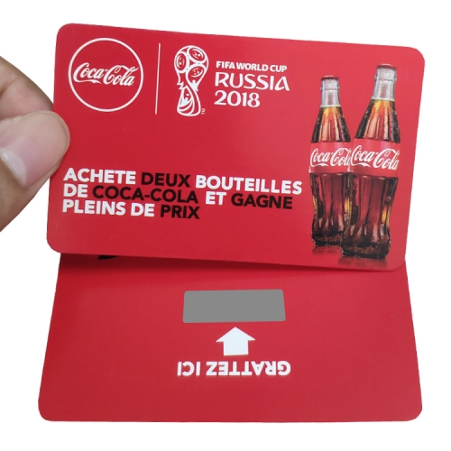 CocaCola Paper Custom Scratch Cards Printing