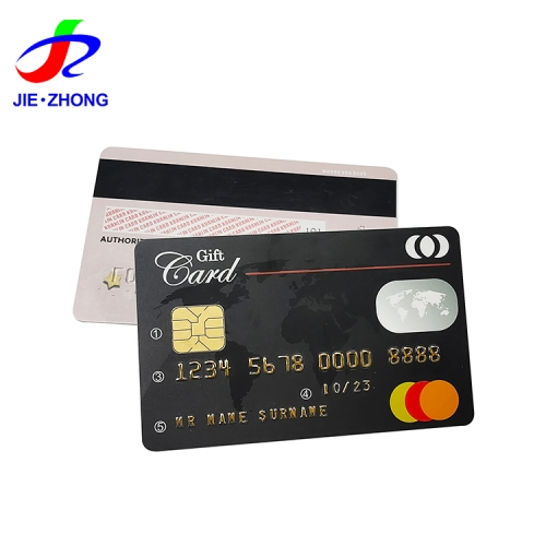 Custom print sle4428 4442 rfid id atm card frosted uv pvc magnetic stripe contact card with chip